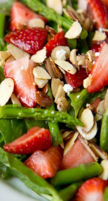 spargelsalat mit erdbeeren gesunde rezepte